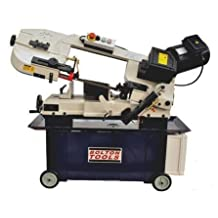 Bolton Tools BS-712G Horizontal/Vertical Bandsaw Gear Head With Coolant System 7 Inch x 12 Inch Metal Cutting Portable Band Saw
