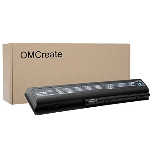 OMCreate Replacement Battery for HP Pavilion DV9000 DV9500 DV9700 Series, fits P/N 448007-001 432974-001 434674-001 EX942AA - 12 Months Warranty [Li-ion 8-Cell]