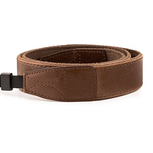 MegaGear MG1519 SLR, DSLR Leather Shoulder or Neck Strap for Canon, Nikon, Samsung, Olympus, Sony, Fujifilm, Panasonic - Dark Brown