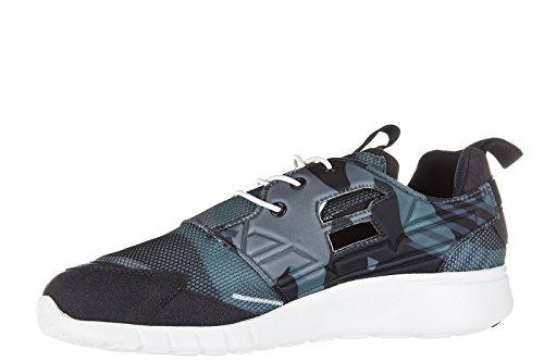 Emporio Armani Ea7 Mens Skor Utbildare Sneakers Racer Ljus Svart
