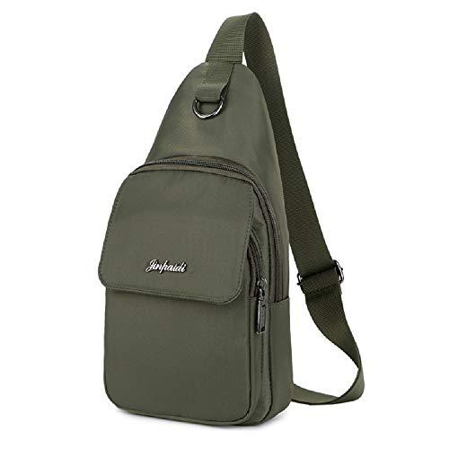 Bag Uomo Casual verde Verde Shoulder Casual Chest Zhrui Sport vwqn16Etx