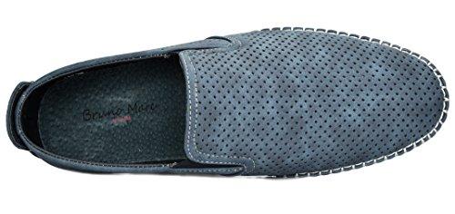 BRUNO MARC NEW YORK Bruno Marc Men's Sleeker Navy Loafers Moccasins Boat Shoes – 6.5 M US