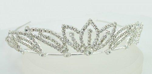 LJ Designs Glamorous Diamante Tiara(T16) by LJ Designs