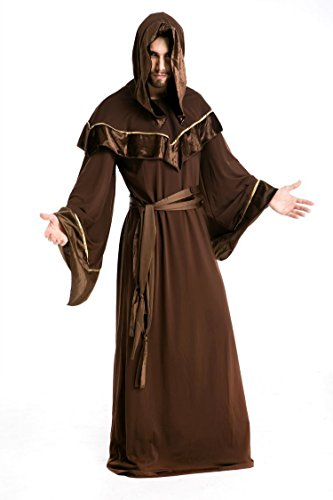 Halloween Funny Cosplay Necromancer Costumes For Mens-Long Sleeve Probs Festival Party Clothings (Necromancer Costume Halloween)
