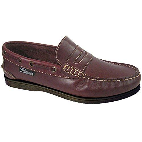 7 Helmsman piel Rojo nbsp;– on hombre para Deck Shoes vela nbsp;12 tamaños Seafarer slip 4pHWSqfcH