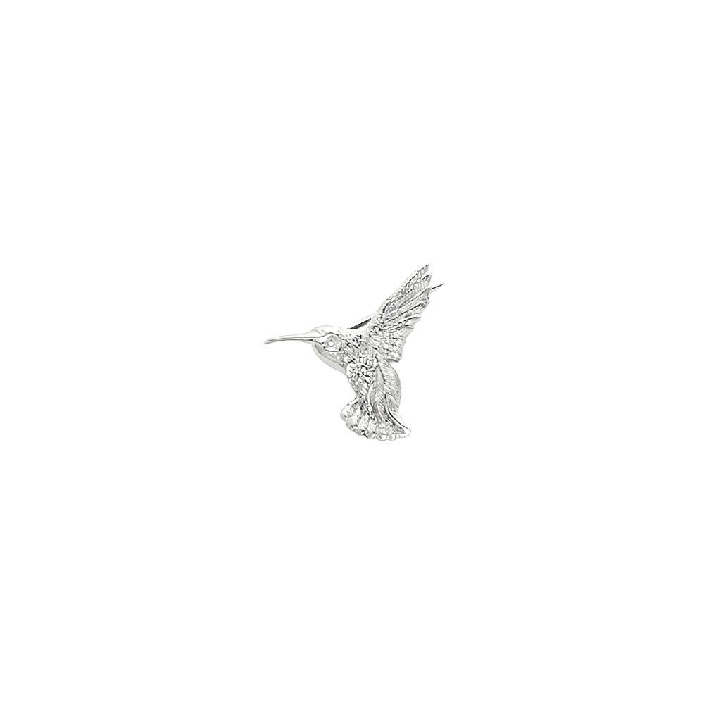 White-gold Hummingbird Brooch