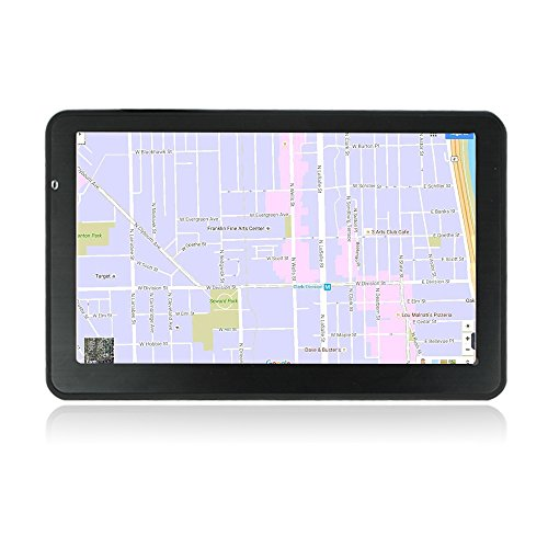 Car GPS Navigation with 24GB Capacity, SQDeal 7 Inch Capacitive Touch Screen Voice Prompt Capacitive Car Truck Navigator with 2018 World Map, Free Lifetime Updates, FM, Driver Alerts for US & Europe ()