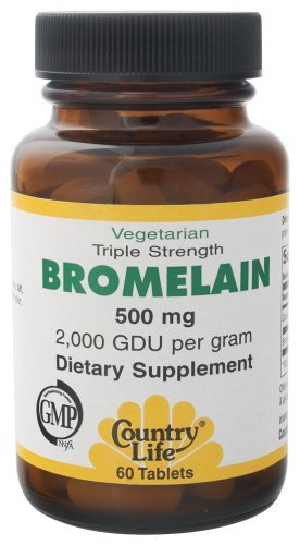Country Life - Natural Bromelain, 500 mg, 60 Tablets by Country Life
