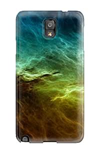 Galaxy Note 3 Case Cover - Slim Fit pc Protector Shock Absorbent Case (abstract Nebula Desktop )