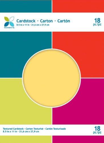 Gem Rub - Momenta 8.5 by 11-Inch Textured Cardstock Paper Pad, Gem Tones