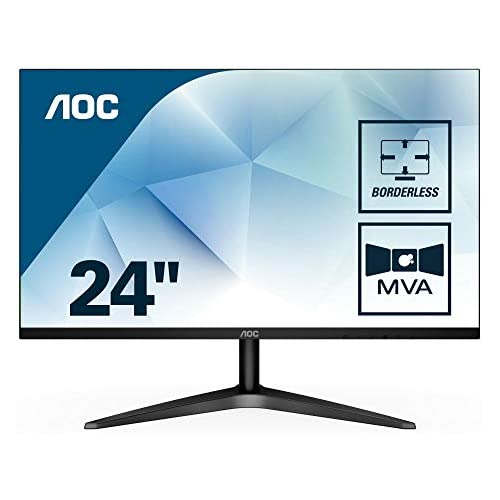 chollos oferta descuentos barato AOC 24B1H Monitor de 24 FHD MVA HDMI Sin Bordes Fino Flicker Free y Low Blue Light negro