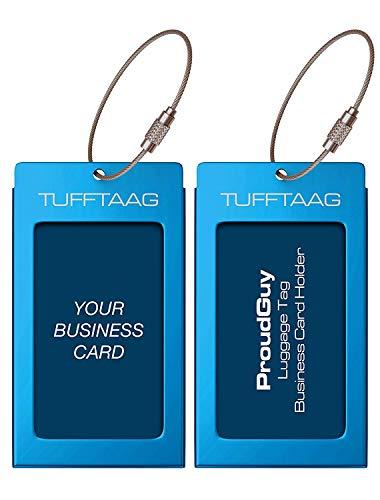 Luggage Tags Business Card Holder TUFFTAAG PAIR Travel ID Ba