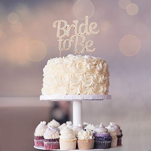 Bride to Be ROSE GOLD Cake Topper | Future Mrs Cake Topper | Sparkly