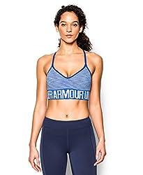 Under Armour Women's HeatGear Armour Seamless Stripe w/Cups, Steel/Steel, X-Small