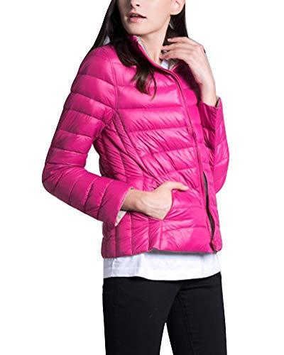 Packable Windproof GladiolusA Puffer Rose Jacket Warm Women's Coat Ultralight Khaki wqAgAUPnC
