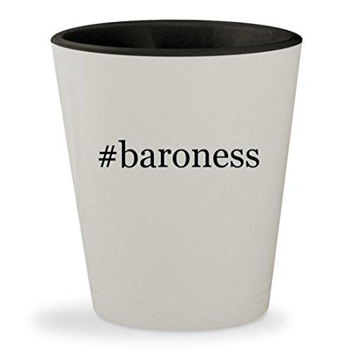 Baroness Cobra Costumes - #baroness - Hashtag White Outer & Black Inner Ceramic 1.5oz Shot Glass