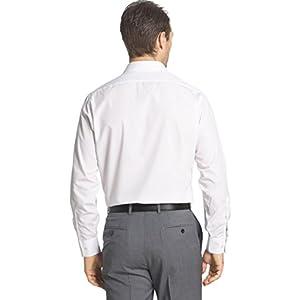 "Van Heusen Men's Poplin Fitted Solid Point Collar Dress Shirt, White, 16"" Neck 32""-33"" Sleeve"