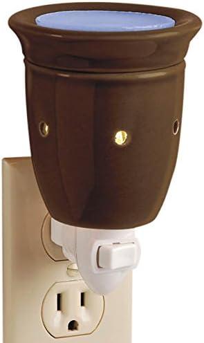 Ceramic Plug In Wax Melter Brown