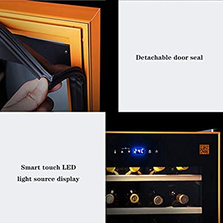 MYYINGELE Minibar Nevera para Vinos con Compresor, 500 litros de Capacidad para 50 Botellas estándar de Vino Iluminación LED, Temperatura Regulable de 8-22 °C Silencioso