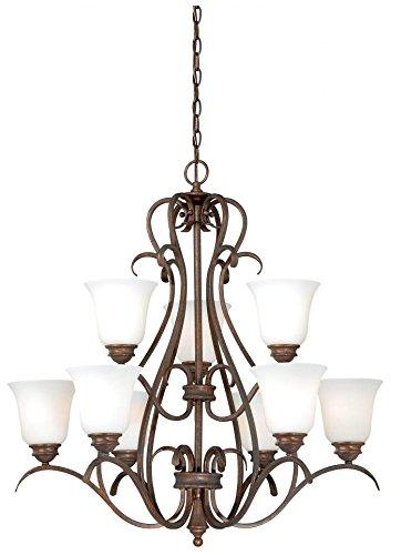 Amazon.com: Vaxcel iluminación h0152 Hartford 9 Luz Dos Tier ...