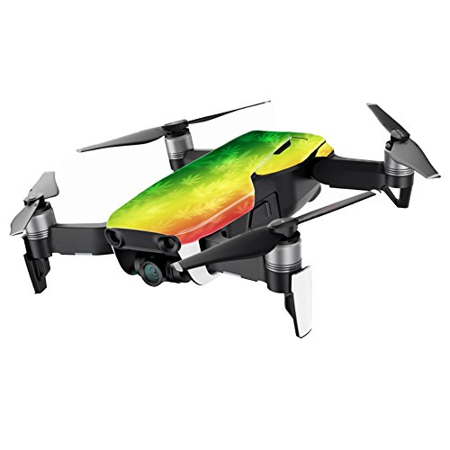 MightySkins Skin for DJI Mavic Air Drone - Rasta Rainbow | Min Coverage | Protective, Durable, and Unique Vinyl Decal wrap Cover | Easy to Apply, Remove, and Change Styles | Made in The USA