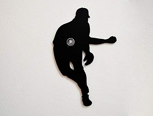 Baseball Pitcher Silhouette - Wall Hook/Coat Hook/Key Hanger