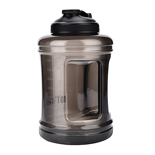 Large Capacity Water Bottle Jug [85OZ/2.5L, Hard BPA-Free PETG Material] Huge Drinking Bottles Water Container for Outdoor Training Bodybuilding Gym Camping and more  Price: $12.99
