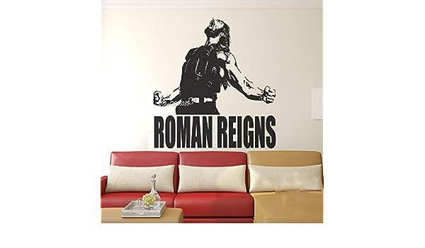Superstar Wrestlers Pegatinas de Pared de Vinilo Roman Reigns ...