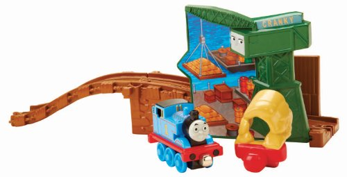 Fisher Price Thomas The Train - Take-n-Play Thomas and Cranky at The Docks