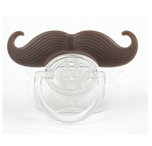 [NEW! Silicone Funny Nipple Dummy Baby Soother Joke Prank Toddler Pacy Orthodontic Nipples Teether Baby Pacifier Christmas Gift (Brown Beard] (Dummy Costume Diy)