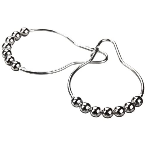 """good Large Oversized Heavy Duty Roller Shower Curtain Rings - Set of 12 Polished Clipperton 2"""" RollerRings"""