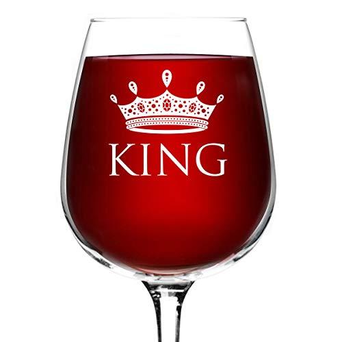 12.75 oz. King Wine Glass - Man