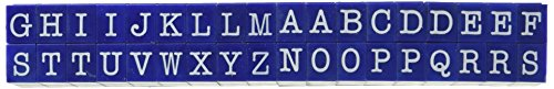 Contact USA Large 36-Piece American Typewriter Pegz Connectable Upperase Alphabet Stamp Set, Navy ()