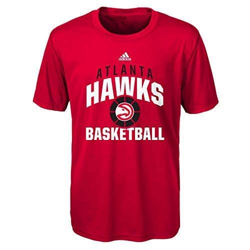 fan products of NBA Rep Big Performance Short Sleeve Tee-Red-M(10-12), Atlanta Hawks