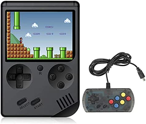 BYLGKE Handheld Games Electronic Games Console for Kids/Adults - 8 Bit 168 Classic Games 3 Inch Screen Retro Games Console with Controller for 2 Player on TV (Black)