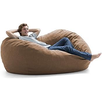 Amazon Com Big Joe Fuf Foam Filled Bean Bag Chair