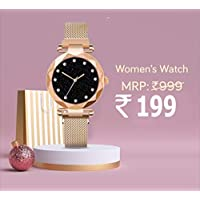 Avicii Diamond Series Rosegold Magnet Analogue Watch for Women's and Girl's Pack of - 1(AVD180)