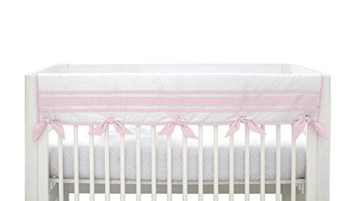 Just Born Crib Rail Guard Cover, Classic Pink - Classic Guard Rail