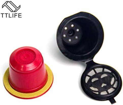 ShoppyStar TTLIFE - Paquete de 4 cápsulas de café reutilizables ...