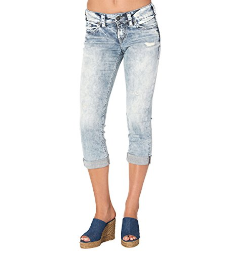 Silver Jeans Suki Capri, Vaqueros (Pierna Recta) para Mujer Blau (Indigo Sib 155)
