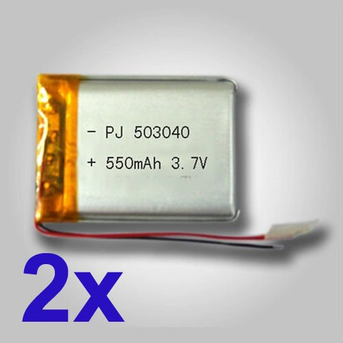- Ofeely Rechargeable 3.7v 550mah Polymer Li-ion Battery for Mp4 GPS Bluetooth 503040 (2 Pack)