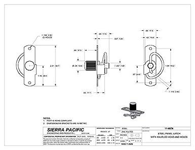 Slotted Head Spring Panel Medium Compression Latch