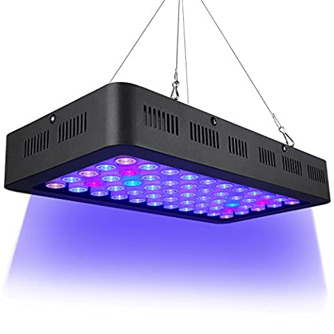 Dimmable LED Aquarium Light 165w, Full Spectrum for Coral Reef Fish Freshwater and Saltwater Marine - Marine Reef Tank