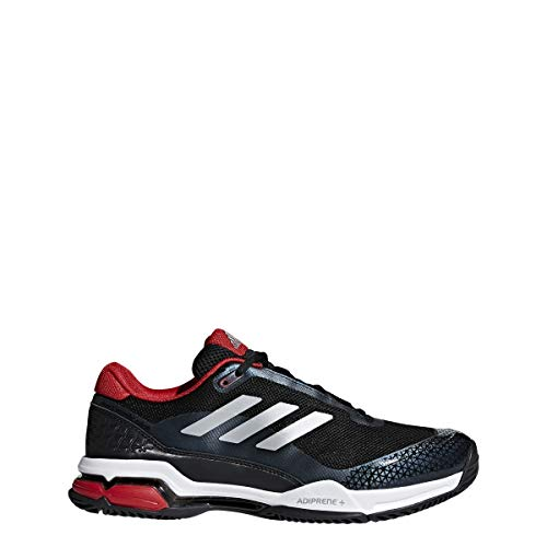 adidas Performance Men's Barricade Club Tennis Shoe, Black/Matte Silver/White, 10.5 M US (Tennis Shoes Mens Tennis)