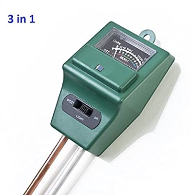 3 in 1 Soil Tester Kits, Moisture Soil Meter Sensor, Sunlight PH and Acidity Tester for Lawn Garden Plant Farm Indoor and Outdoor (No Battery needed)