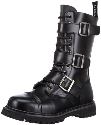 Leather 4 Buckle Boots - 8
