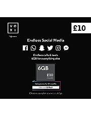 Vodafone VOXI SIM-kaart Eindeloze sociale gegevens, oproepen, teksten Roaming (VOXI is het mobiele netwerk onder de 30s)