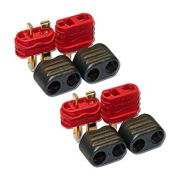 5 Paar T-Stecker Deans T-Plug Goldkontaktstecker Stecker//Buchse Hochstromstecker