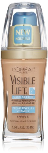 L'Oréal Paris Visible Lift Serum Absolute Foundation, Natural Buff, 1 fl. oz.