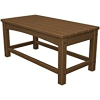 POLYWOOD CLT1836TE Club Coffee Table, Teak
